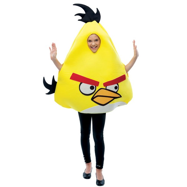 Fantasia Infantil Angry Birds Amarelo Deluxe