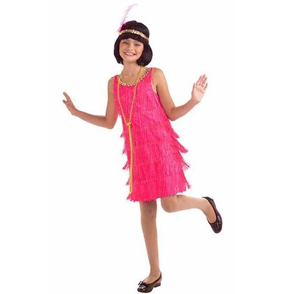 Fantasia Infantil Hot Pink Flapper