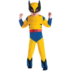 Fantasia Infantil Wolverine Musculoso