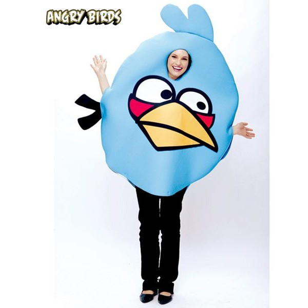 Fantasia Adulto Angry birds Azul