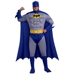 Fantasia Adulto Batman Musculoso plus size