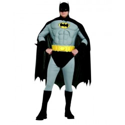 Fantasia Adulto Batman Musculoso Plus size Deluxe