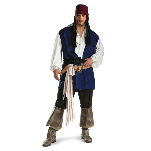 Fantasia Adulto Piratas do Caribe Jack Sparrow plus size