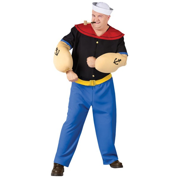 Fantasia Adulto Popeye plus size