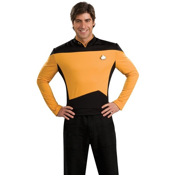 Fantasia Adulto Star Trek Dourado