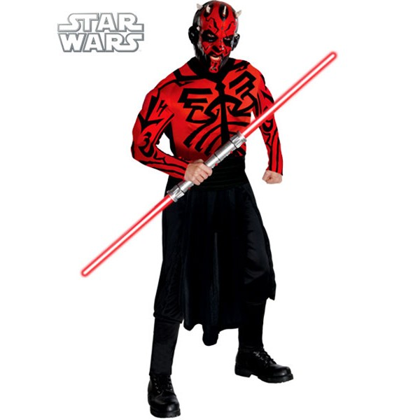 Fantasia Adulto Star Wars  Darth Maul Musculoso